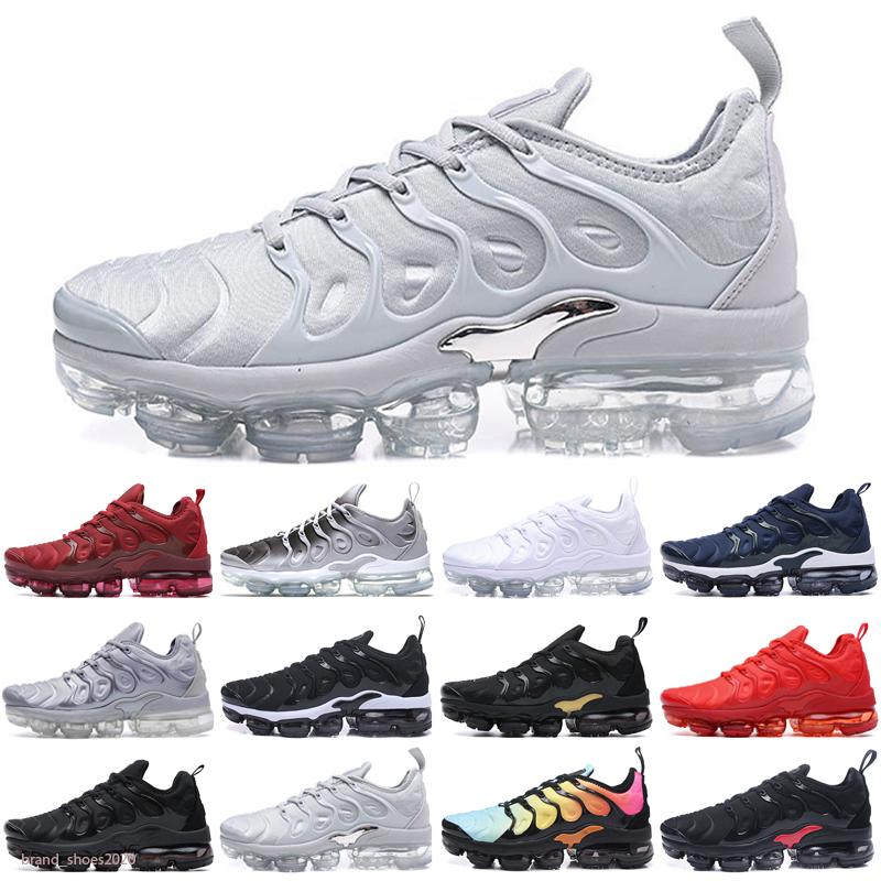 Vapormax Plus TN Midnight Navy Lemon Lime Silver EE. UU. Para hombre zapatos deportivos zapatillas deportivas Transporte para hombre Tamaño 36-45