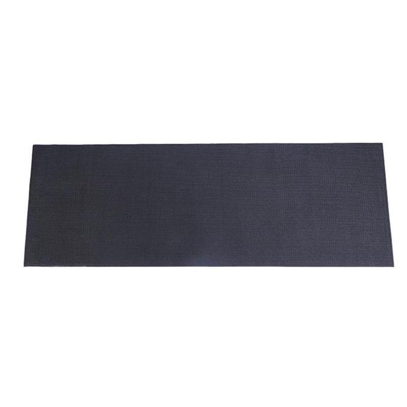 Equipement de fitness de gymnase de gymnase de gymnase pour le tapis de course Vélo Protect Tapis de plancher Plaquettes absorbant le tapis absorbant noir 150cm