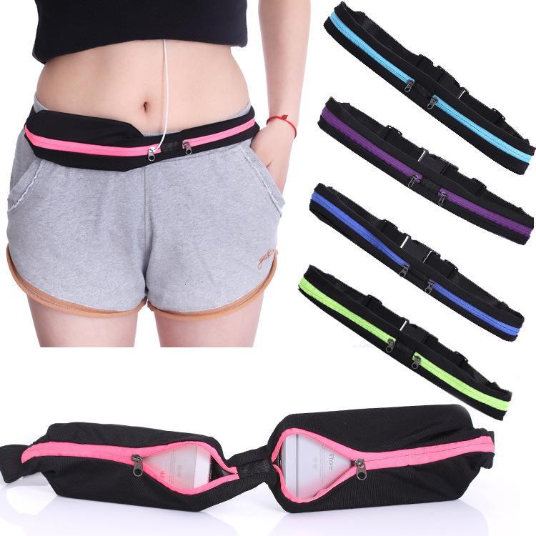 Cintura de estiramento ao ar livre Multi-função Pacote de esportes Unisex Running Pockets Anti-Theft Mobile Phone Bag Vt0081