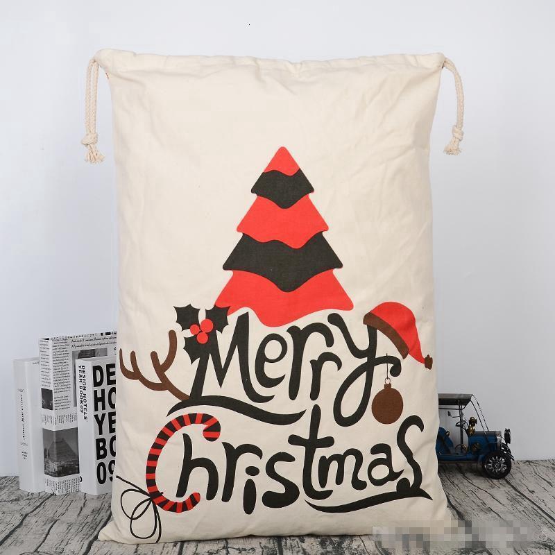 Корабль холст рождественские седы сумка большие веревки конфеты SANTA CLAUS SAK XMAS SANTA SACKS подарочные сумки для рождественских украшений 08