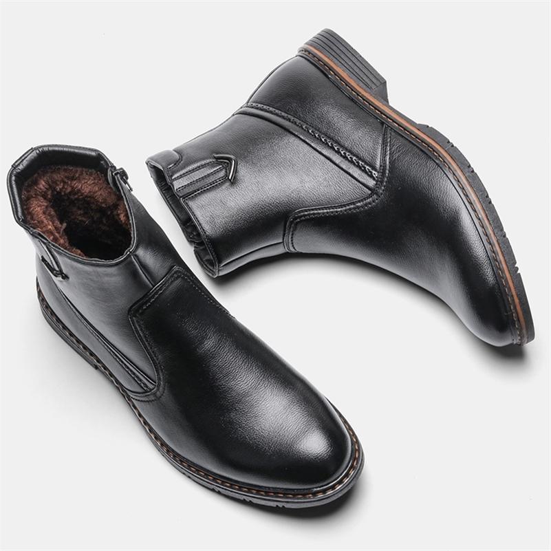 Stivali da uomo di marca wootter Stivali invernali in pelle retrò per uomini taglia 40-45 stivali in pelle invernale in pelle a mano scarpe da uomo # DM5266C1 201209