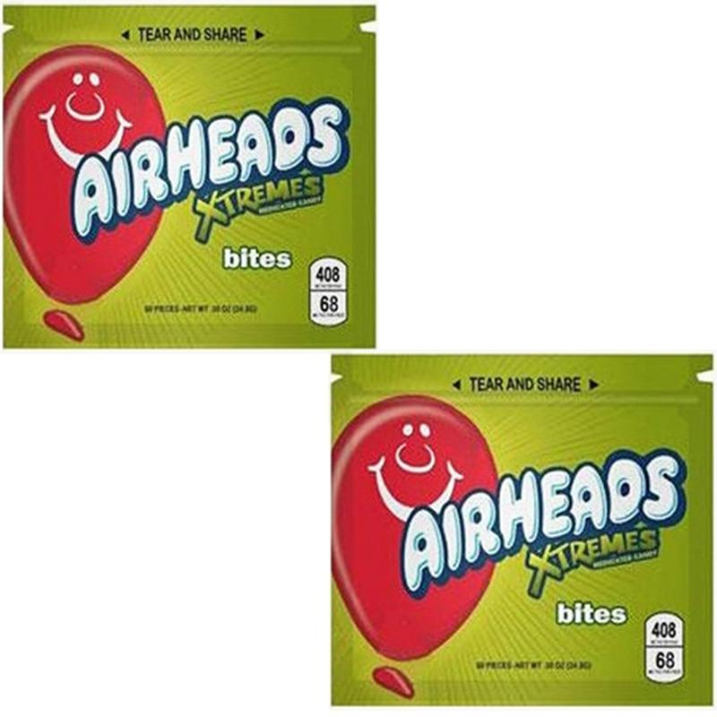 Boş Tıbbi Airhead Polyester Film Fermuar Ambalaj Gıda Çantası 408mg Yiyecek ve İçecek Çantası için Özel Ekşi Çanta 3 Renkler Seçmek için