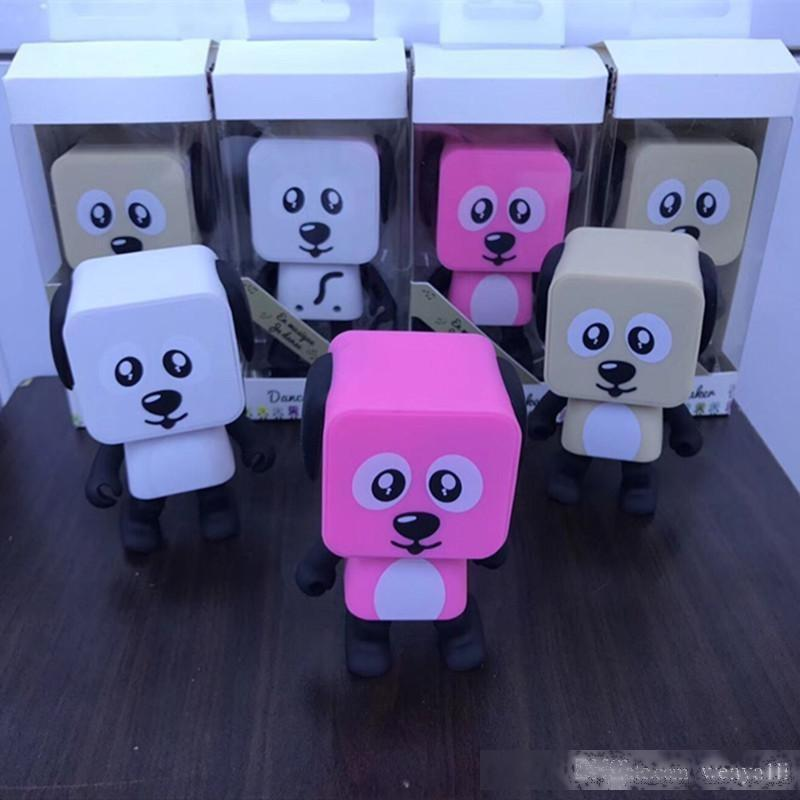 Nouveaux Haut-parleurs de chien Smart Dancing Mini Cartoon Bluetooth Dance Robot Dog Haut-parleur agréable pour les enfants cadeau