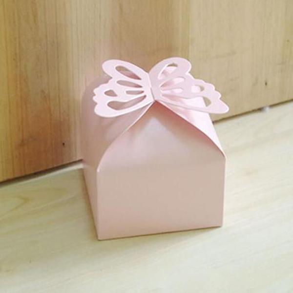 Papel caramelo de la boda Creative Box nacarado-lustre bolsos de fiesta color plata regalo de oro Caramelos Chocolates los titulares de las cajas del favor 0035pack mayorista