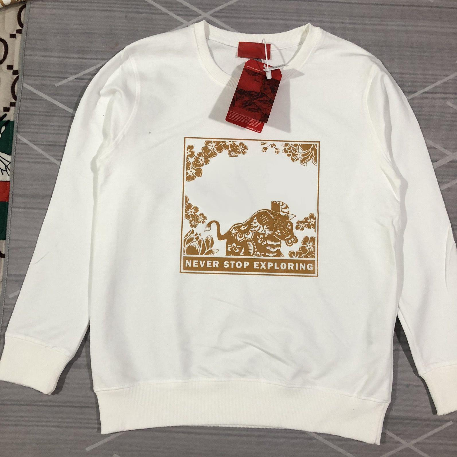 21FW Mes Sweatshirt 2021 Year of The Ox Pattern Pullovers Fashion Letters Printing Tops Unisex Boys Hiphop Sweatshirts Asian Size M-5XL