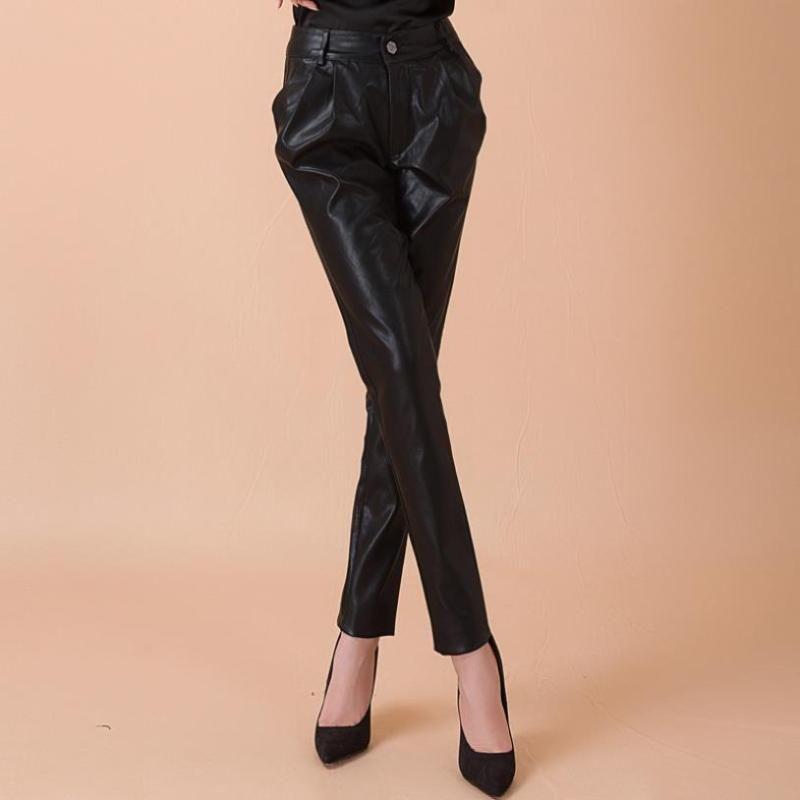 Женские брюки CAPRIS 5XL PLUS мода бренд BUD стиль PU кожа зима осень весна высокое качество было тонким карандашом WQ781 Dropship