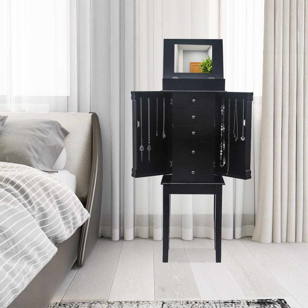 2021 Home Jewelry Storage Cabinet Detachable High Foot Dresser Jewelry Display Locker 5 Drawers 6 Layers Black From Btgate 92 89 Dhgate Com