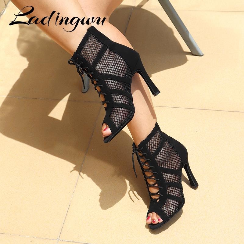 Dadiingwu nouvelles bottes latines dames filles salsa tango sport salle professionnel salle de bal shoes de danse c1120