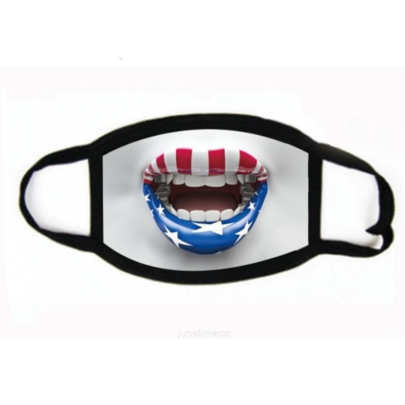 Национальные пользовательские дышащие моющиеся ткани состояния моды # 424 флаг объединенные лица маски доказательство ясень mascarillareusable звезды ebnfi