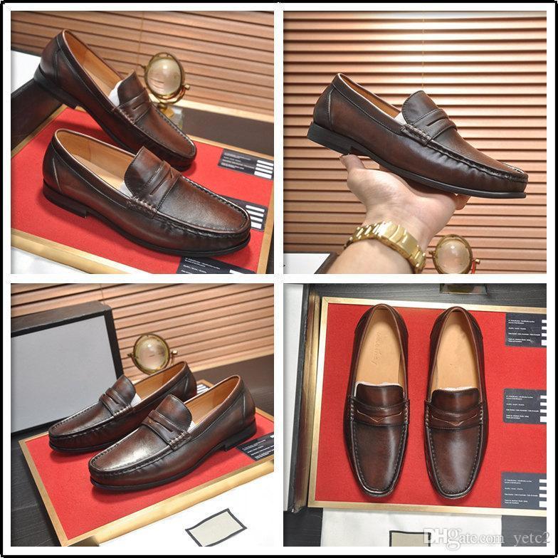C2 Новая мода повседневные мужские роскоши дизайнерские платье обувь коровью корова подлинное начало итальянский стилист плоский формальный оксфорды белый свадьба обувь 11