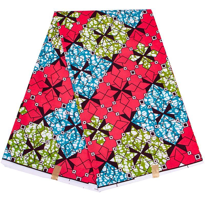 Оптовая Cheapest Африканский воск Полиэстер Ткань Женщины платье партии Материал высокого качества Ankara Африканский ткань печати воска