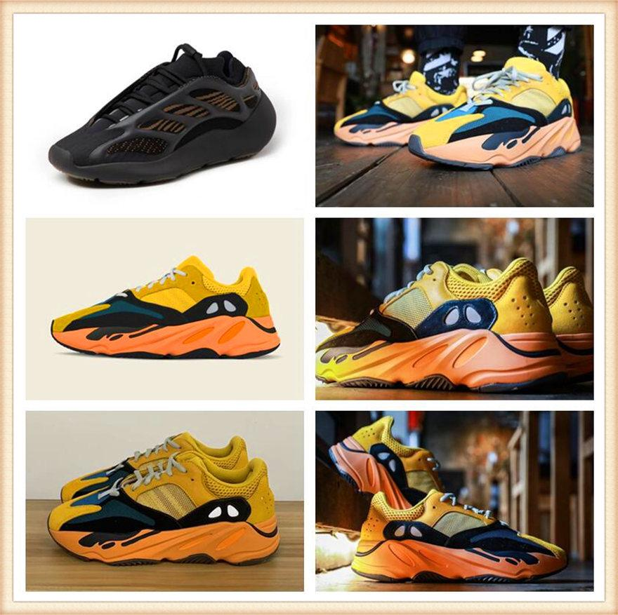 Chaussures de sport pour femmes hommes 2021 Kanye West Ash-Blue Chaussures Chaussures Chaude Vente chaude Lumière Reflectif Casual Sports Sneakers Sneakers Non-Slip Chaussure Taille 36-48