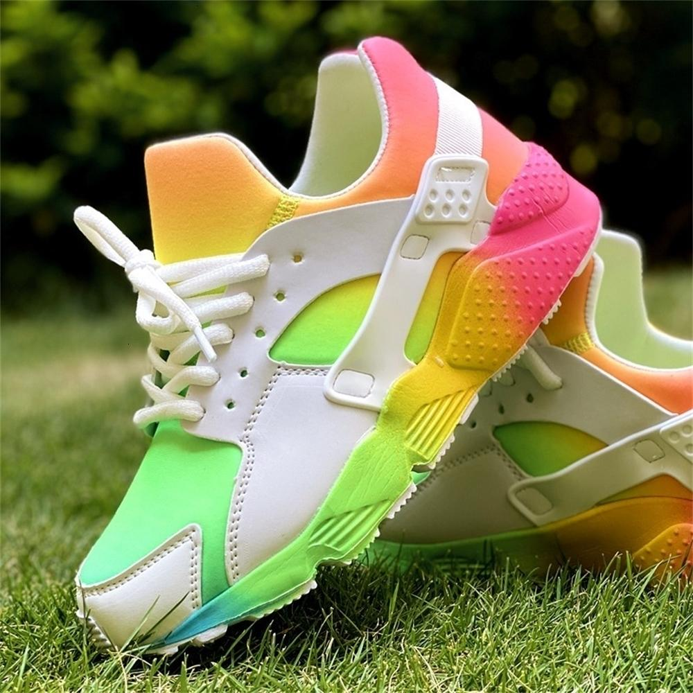 Руководство по эксплуатации 2021 Повседневная Обувь Женский Бренд Дизайн Смешанно Цветные Кроссовки Женщины Ins Hot Роскошные Красочные кроссовки