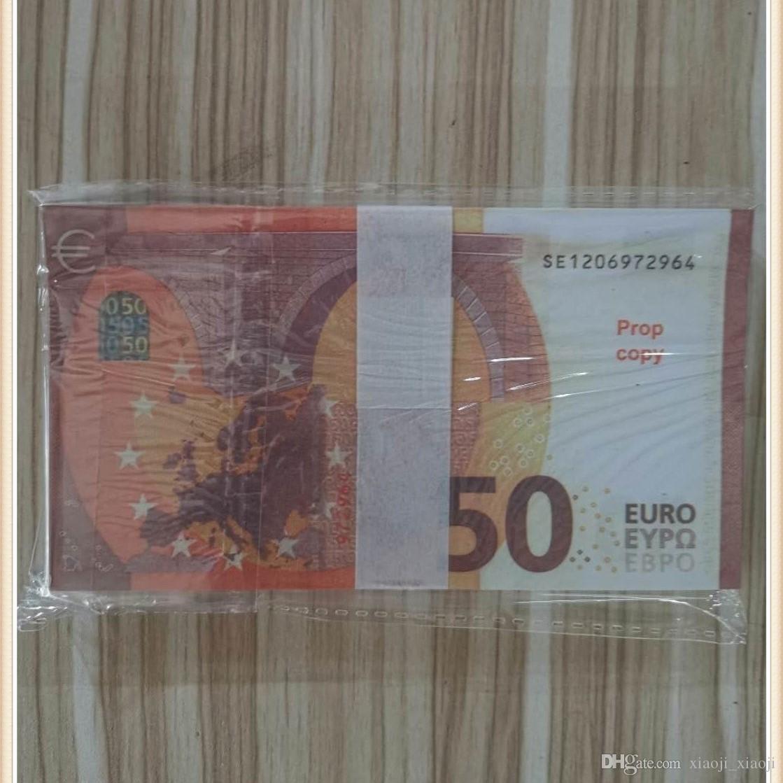 Fake Quality Pretend Kids 04 Euro Money 50 Euro, Fake Money Counting for Money High Película Props Lqoos