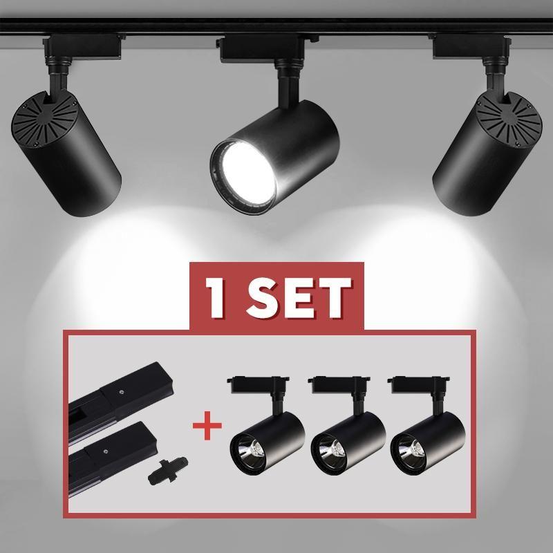 Ensemble complet LED piste de piste de piste de piste de piste de piste 12W 20W 30W 40W 40W éclairage de rail plafonnier luminaires luminaires de vêtements pour vêtements maison 220V