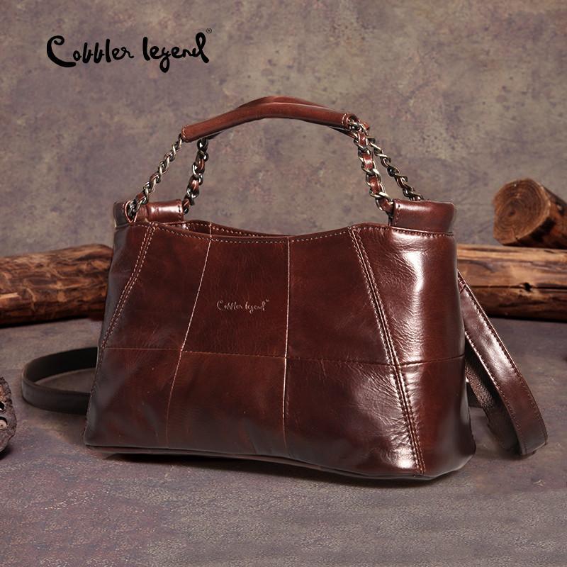 Cobbler Legende Echtes Leder Handtasche Casual Crossbody Taschen für Frauen 2020 Damen Luxus Designer Tote Top-Griff Hohe Qualität