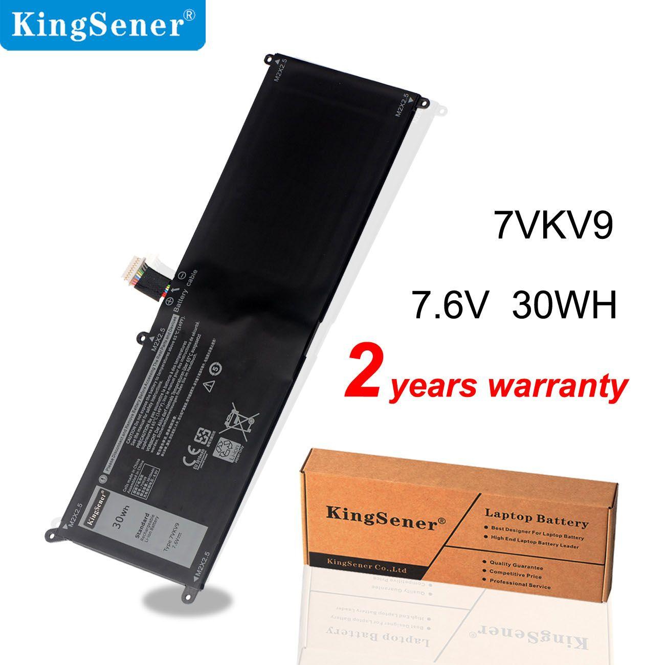 Kingsener 7VKV9 9TV5X Laptop Battery For DELL Latitude XPS 12 7000 7275 9250 Tablet 7.6V 30WH