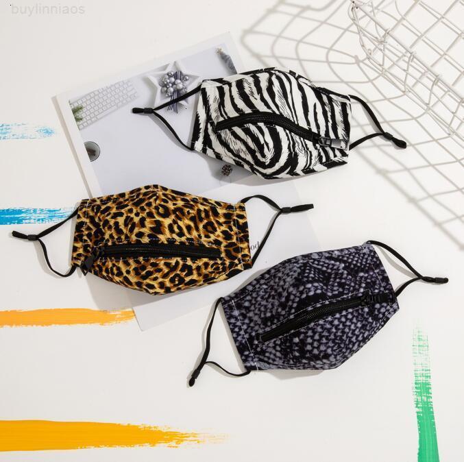 Lavabile Facile Faccia creativa Bere Bere riutilizzabile Zipper Maschere di progettazione Protezione Designer Party MA