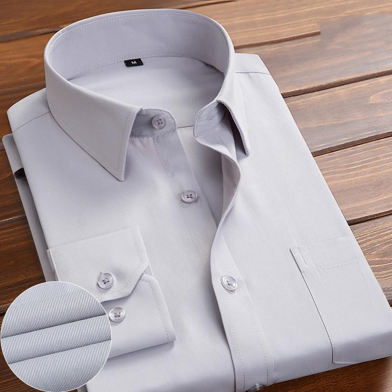 Camisa blanca de primavera para hombres de manga larga coreana delgada color sólido casual camisa de manga corta negra de negocios de negocios de negocios
