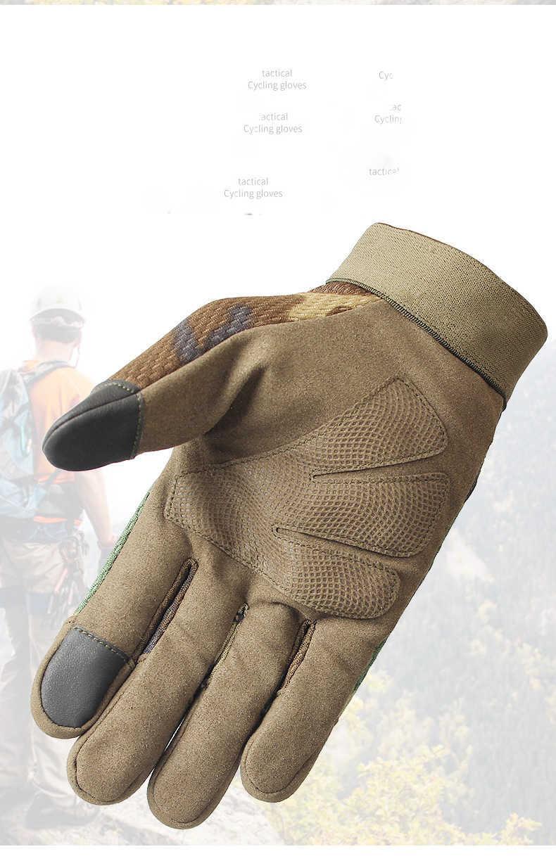 Велосипедные перчатки Защитный тактический механизм бегущий лыжный ветрозащитный полный палец эргономичный противоскользящий теплый открытый CS трекинг спортивный велосипед унисекс