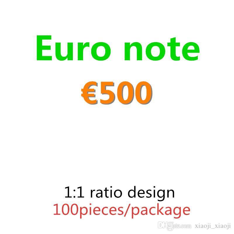 CONT Quality Money 500 евро Топ 100 шт. / Упаковка притворяется бумаги копия банкноты коллекция денег подарки опоры и доллар 02 поставляет KSXAS