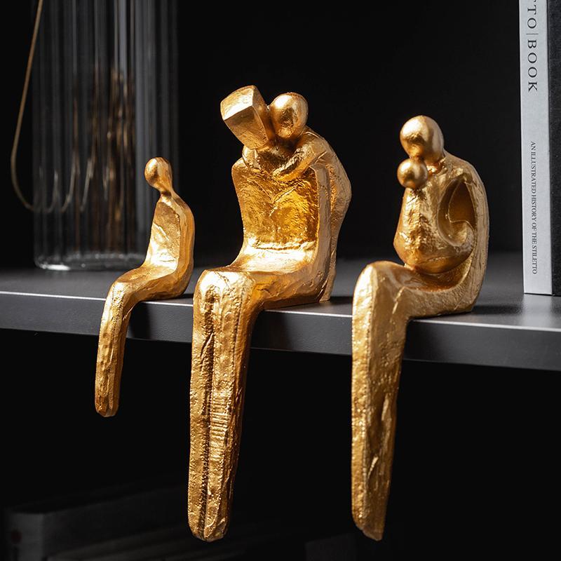 Figurines Famille Accessoires de la chambre Creative TVCabinet Table de table Decotr Nordic Cadeau Décoratif Accueil Décoration Accessoires Résine 201125