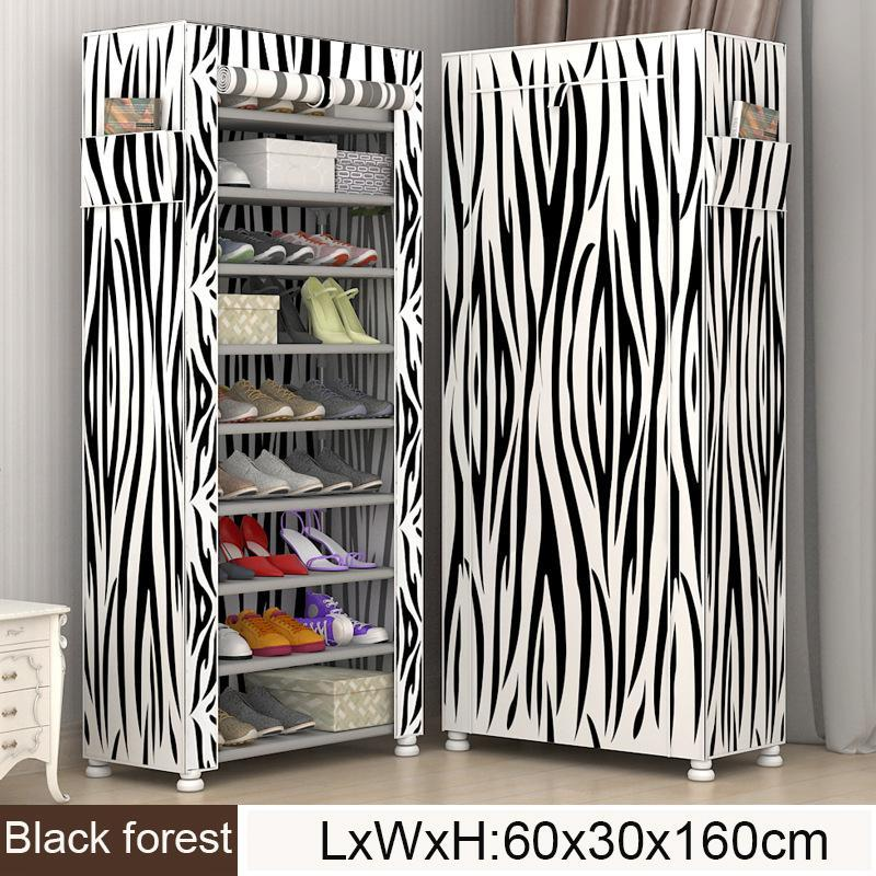 Multi Livelli Scarpe da scarpe Scarpe in tessuto non tessuto Scarpe Organizzatore Rack Soggiorno Mobili Moderno Stile Moderno FAI DA TE Assemblato Semplice Cabinet da scarpe Y200527
