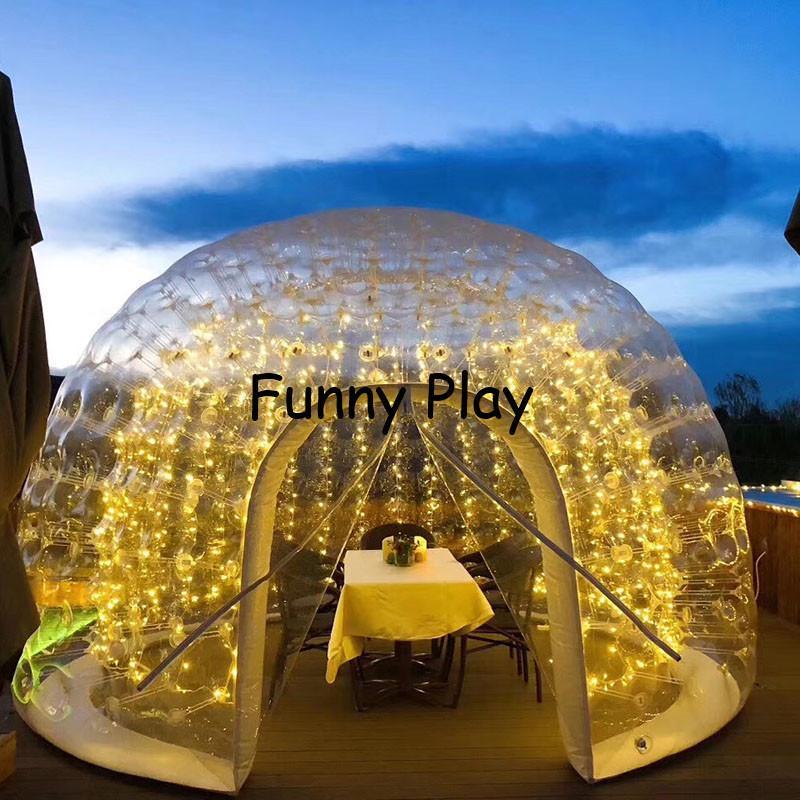 Barraca inflável da casa de camping da bolha, uma tenda de praia dupla inflável da primeira vez, barraca sem-deflatable do resto, casa de café inflável Z1123