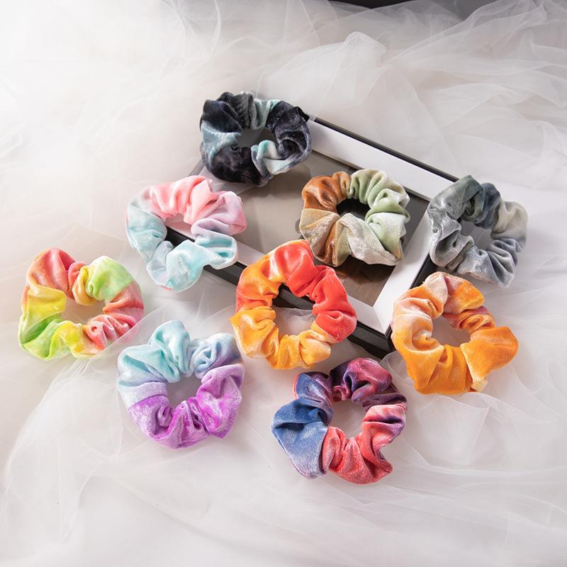 Rainbow Color Elastic Hair Band Tie Tin Tinked Gradients Cerchio Capelli Accessori Moda Donna Della Testa Della Testa Decor Hairrope 1 1sy L2