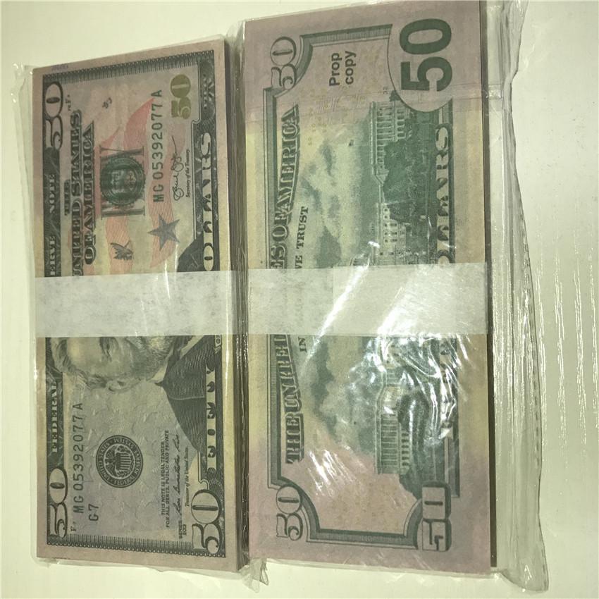 Großhandel Geld 50-1 Hohe Währung Amerikanische Requisiten 100 Requisiten Papier Versandpapier Dollar Stücke / Paket Schnelle Qualität Dewqo Atmosphäre BA XTDT