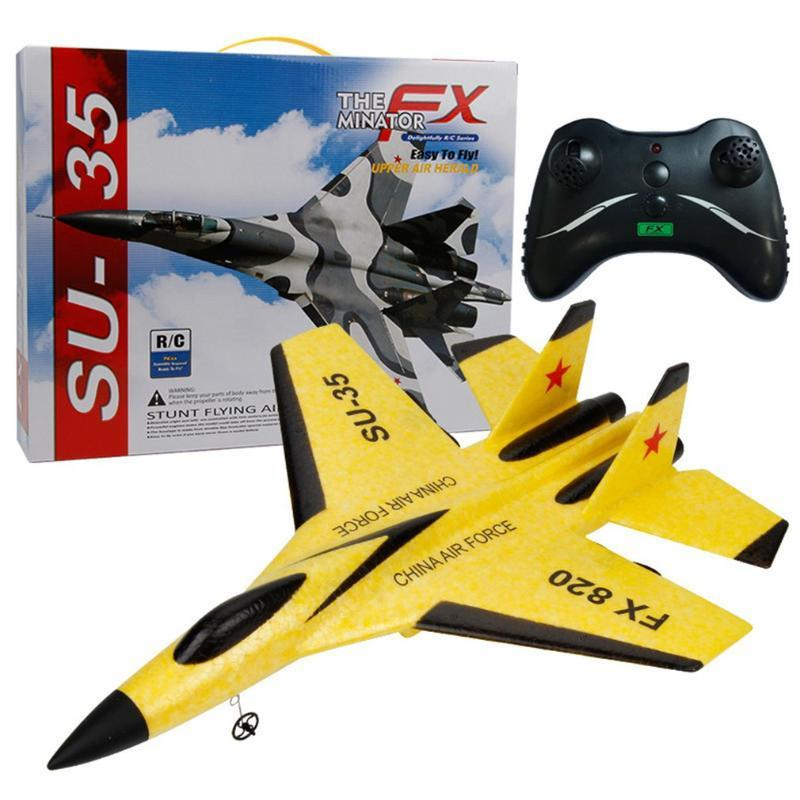 RC Fighter Alojamiento fijo Control remoto Avión resistente a la batería reemplazable del planeador del modelo de espuma