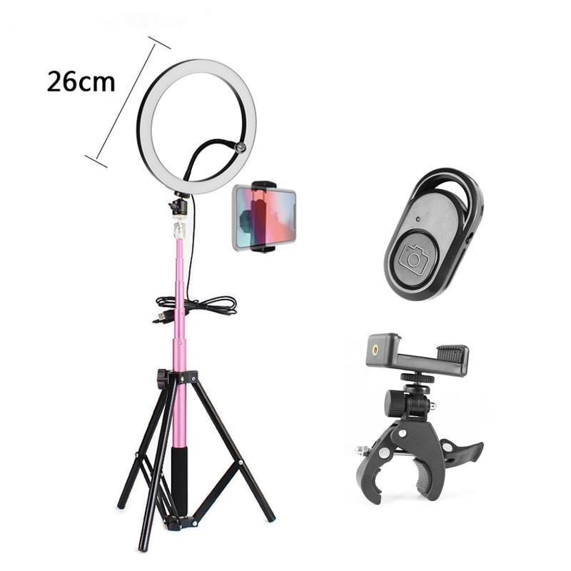 Ring Light 10 26cm Annular Make-up Lamp Dimmable LED Ring Light With Tripod & Phone Holder For Camera Photo/Studio/Phone/Video