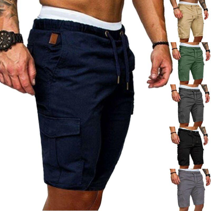 Erkek Kargo Şort Yeni Ordu Kamuflaj Taktik Şort Erkekler Gevşek İş Rahat Kısa Pantolon Artı Boyutu