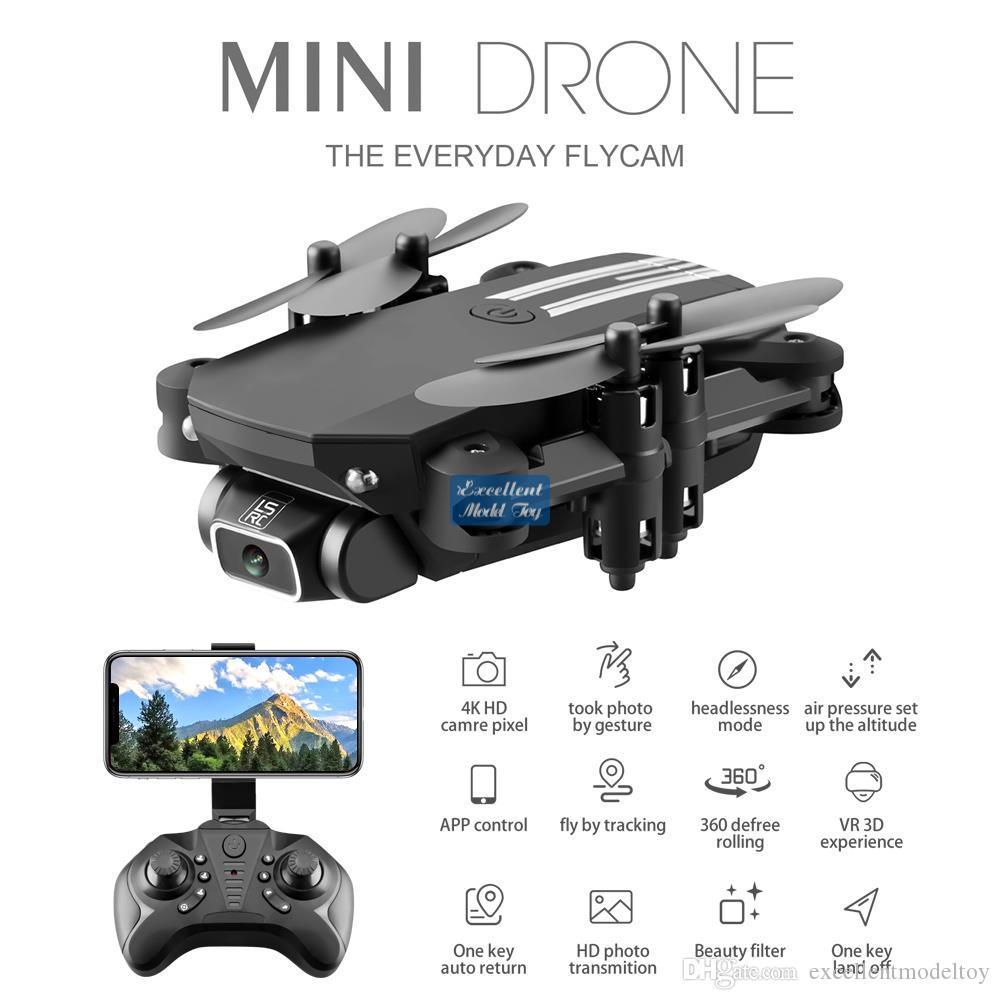 LSRC 4K HD Wi-Fi FPV складной мини-дронов FPI, сфотографироваться на жест, траектория, полета, фильтр красоты, высота удержания, 360 ° Flip, 3-1