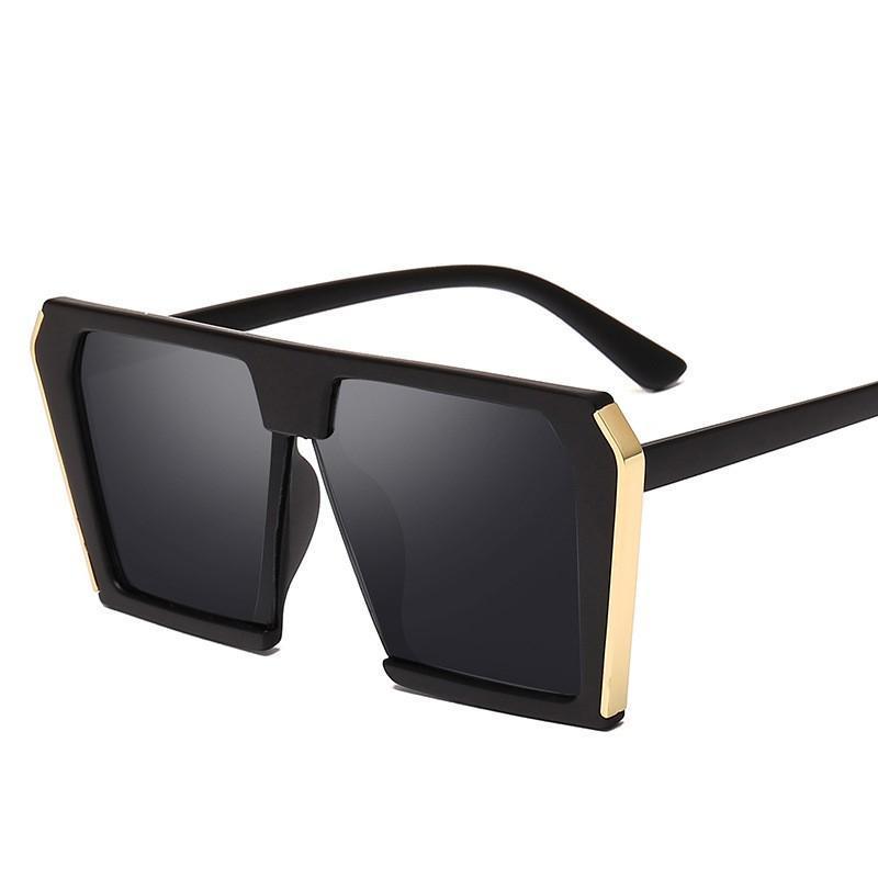 Güneş Gözlüğü Oloey Avrupa ve Amerikan Trend Moda Metal Çerçeve Kadınlar Anti-Ultraviyole