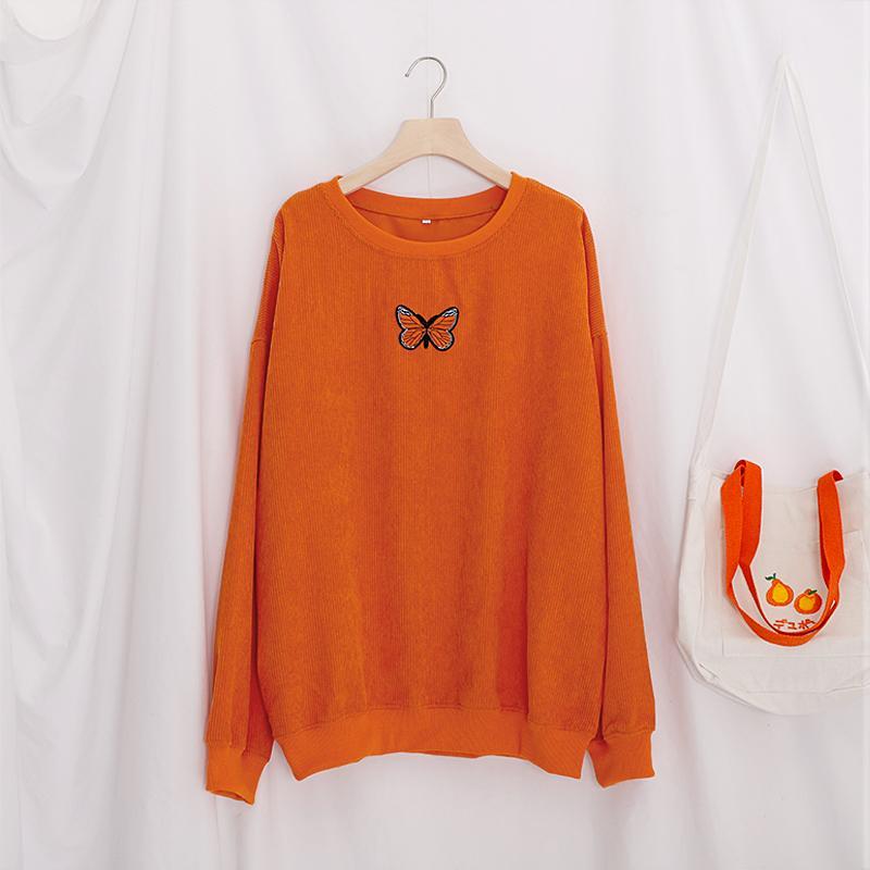 Herbst bedruckt Langarm Sweatshirt Frauen Ripped Oansatz Candy Colors Weibliche Grundlegende Sweatshirts 2020 Vintage Lose Dame Pullover LJ201124