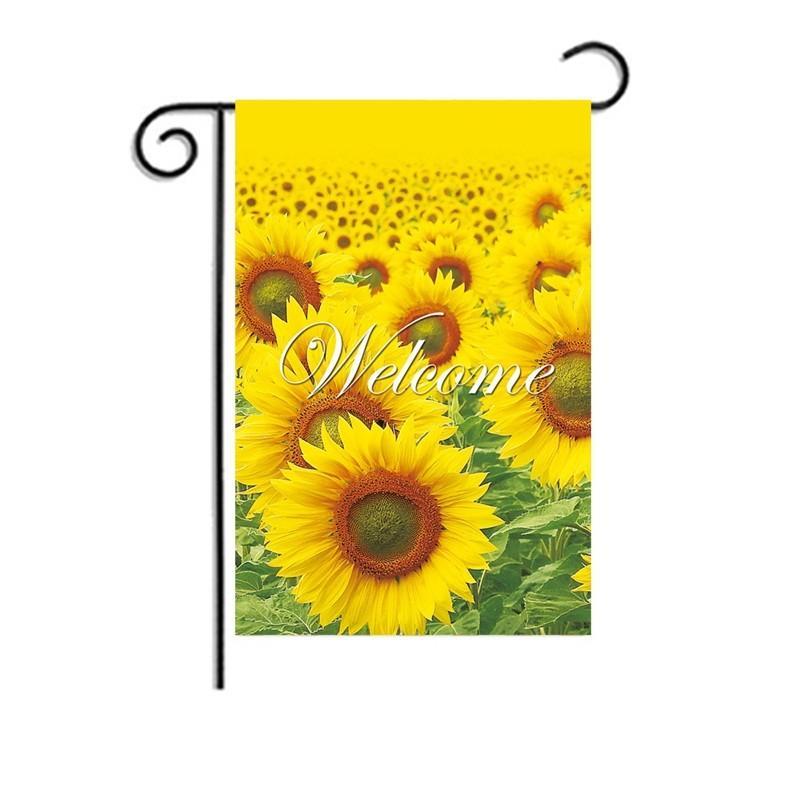 Bahçe ayçiçeği hoş geldiniz bayrak festivali parti ev süslemeleri afiş şifreleme keten bayrakları desen iyi görünümlü roman pretty 5wfa e2