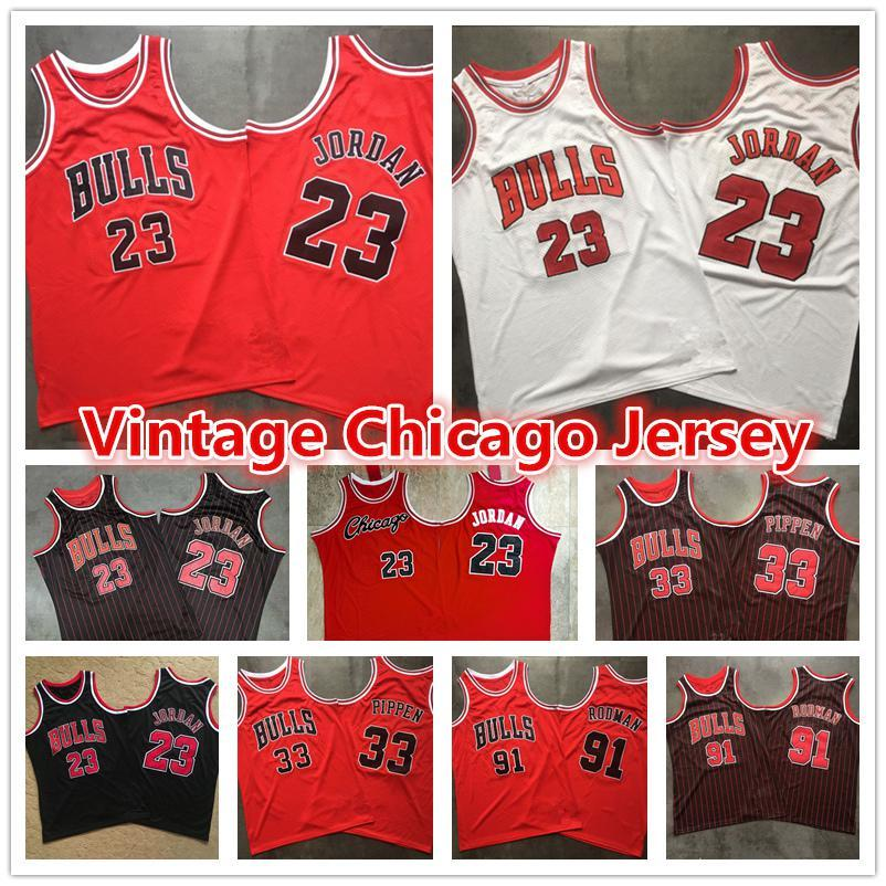 NCAA 23 Michael MJ Mens Rouge Rouge Vintage Chicago