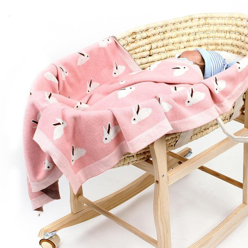 Baby Boy Girl Blankets Newborn Knitted Cotton Spring Swaddle Infant Stroller Cover Sheet Children Summer Nap Thin Quilts1