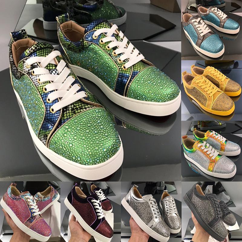 Plataforma de Austrália Designers de moda Mens Sneakers de alta qualidade de couro vermelho sola quente perfuração de perfuração grande tamanho1213 sapatos casuais