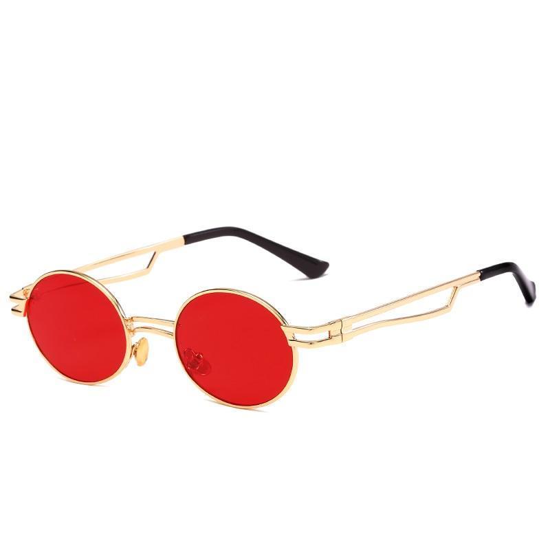 Rodada Frame Metal Personalidade Sunglasses Master Designer Cuidadosamente trabalhada Personalidade Praia Turismo Ao Ar Livre Condução Sol Óculos