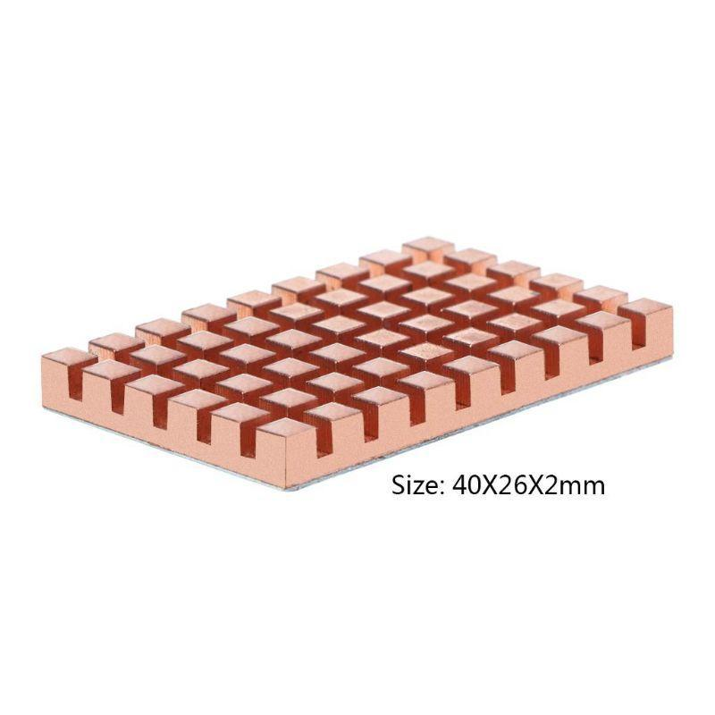 Copper Dissipador e 2/3/4 MM termicamente Conductive Adhesive para mSATA NGFF 5030 msata3.0 Solid State Disk SSD radiador refrigerador