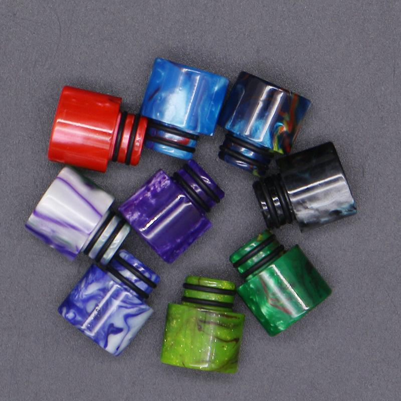 Newest 510/810/528 Epoxy Resin Drip Tips Wide Bore Fit TFV8 Big Baby TFV8 Prince Atomizers