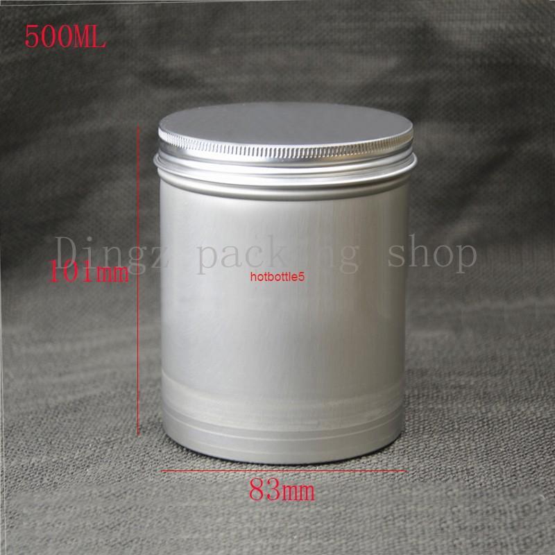 20 шт., 500 г / 500 мл Круглые алюминиевые банки с пустыми коробками Косметика Контейнерное Спиральное проецированное качество