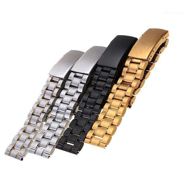 Assista Bandas Tomada de Fábrica Sólida Aço Inoxidável Masculina 18mm 20mm 22mm 24mm 2021 Flat Metal Watchband Acessórios Bracelete1