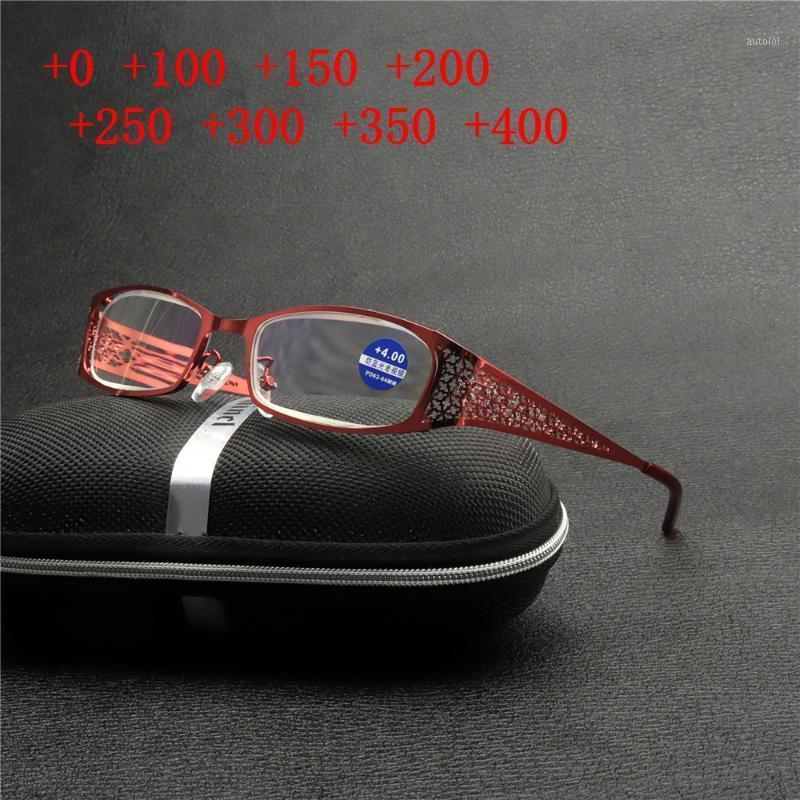 Nuovo PhotoChromatic Progressive Multifocus Bicchieri da lettura per le donne Fashion Hollow Frame Vision regolabile Vetri di lettura NX1