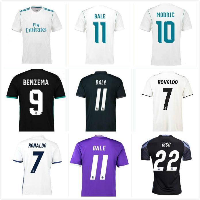 2016 2017 2018 2019 2019 Retro Real Madrid Jersey 17 18 Bale Benzema Modric Kroos Camisa de Futebol Retro Isco Maillot Sergio Ramos Ronaldo