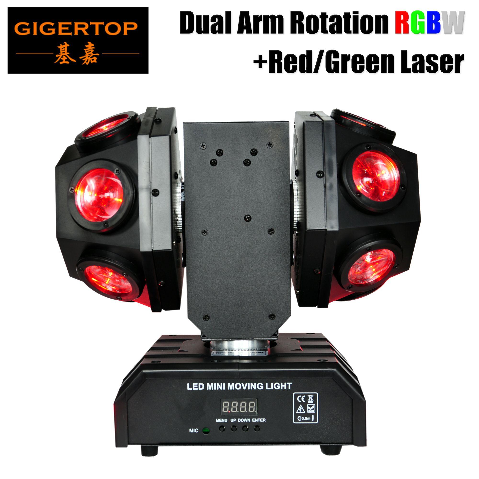 TIPTOP LED Super feixe Mini Moving Head luz Bola Double / Braços 2 Infinito rotação Football Luz RGBW mistura de cores 17/20 ch
