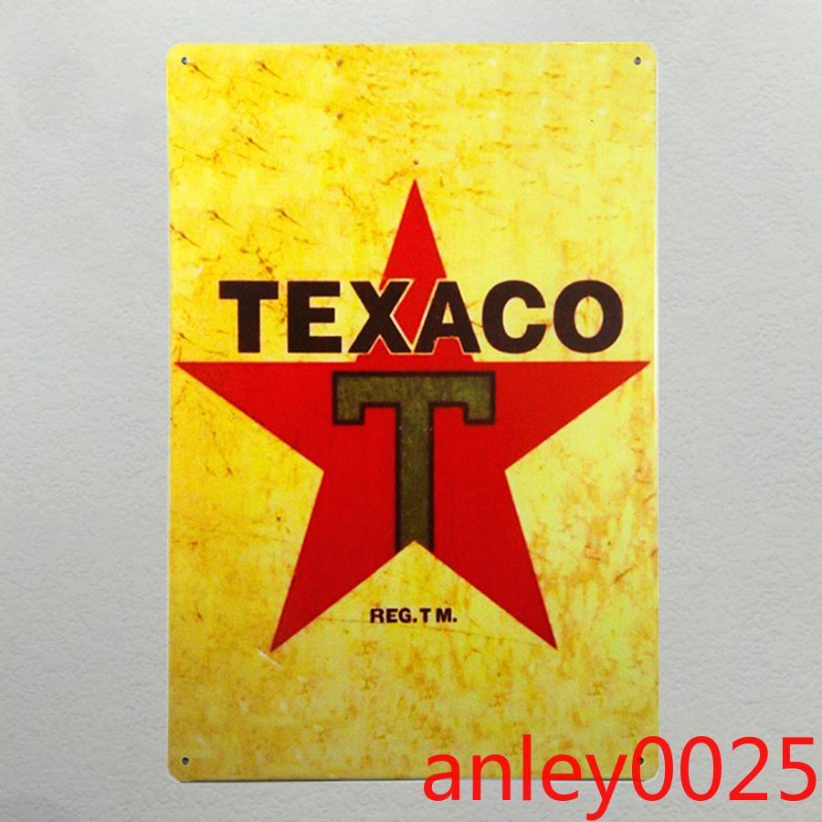 "Segni di latta in metallo ""Texaco"" Gas Motor Gas Oil Service Weathered Garage Gas Iron Paintings Decor"