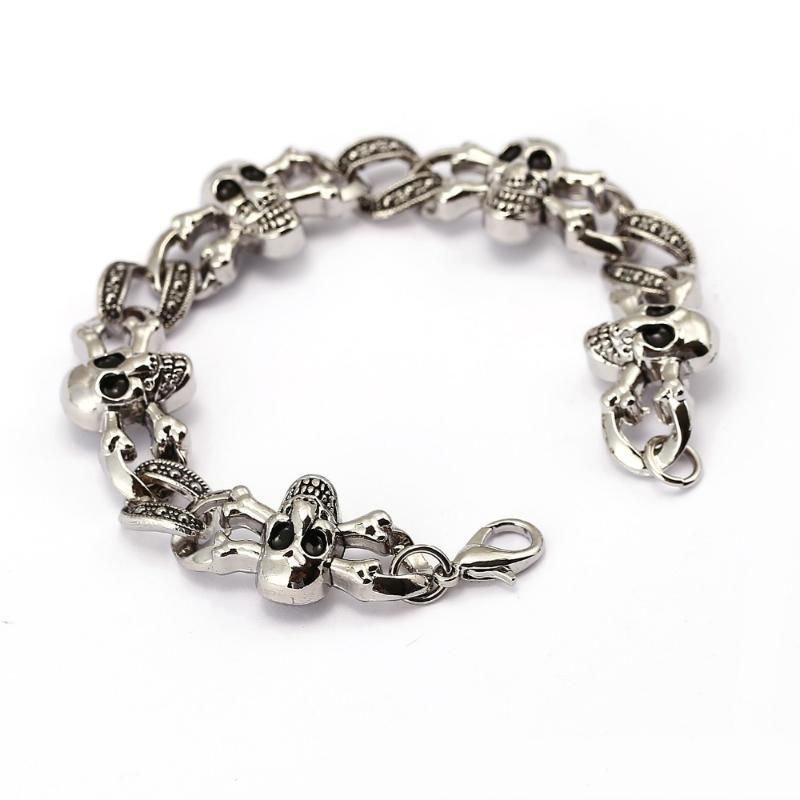 New metal Men's Charm Bracelets skull shape Retro Mens Bracelets 2020 High Quality Cool Male Jewelry Accessory jx10430